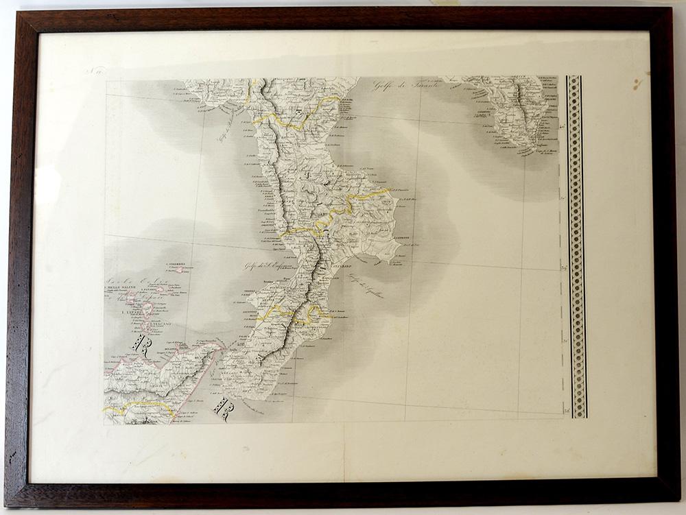 Cartina Fisica Della Calabria.Stampa Raffigurante Carta Fisica Della Calabria Cm 57x78 In Cornice Lievi Il Ponte Arsvalue Com
