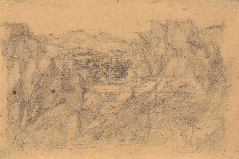 Villon Jacques (1875-1963), Blanchisserie entre Cannes et Mougins, 1934...