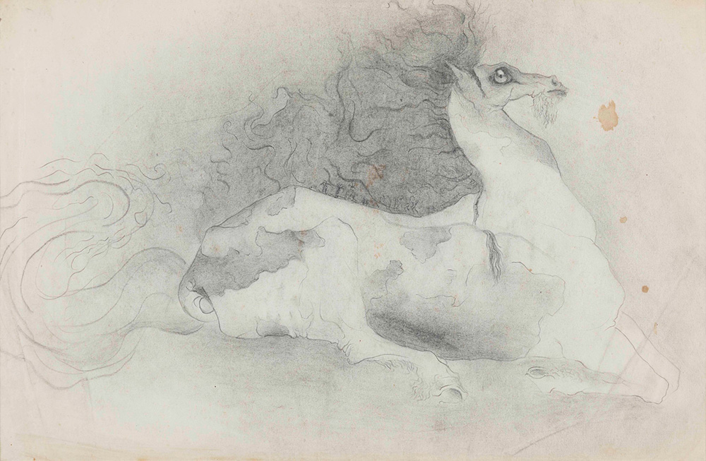 Leonora Carrington (1917-2011), Bearded Horse, 1941 matita su carta, cm...