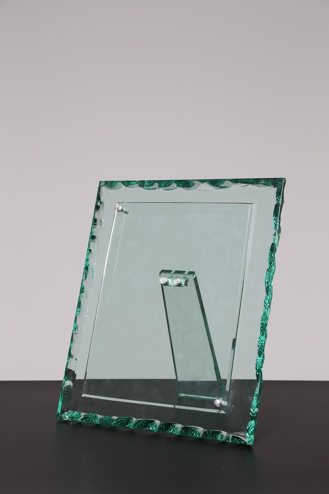 Portafoto In Vetro.Fontana Arte Attrib Cornice Portafoto Ottone E Vetro Cm