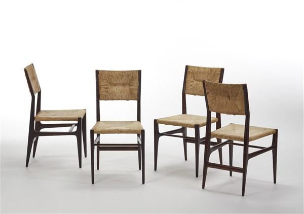 """Gio Ponti Quattro sedie modello """"CA 601"""". Produzione ..."""