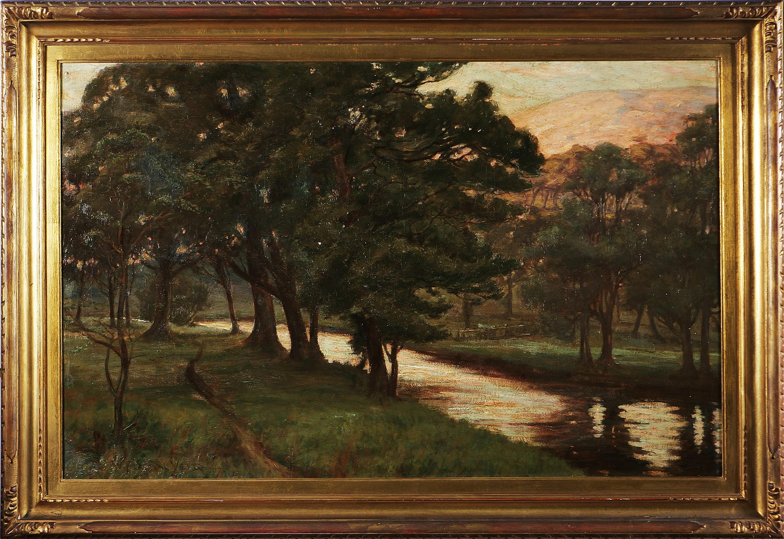 PERCIBALYETTS WILLIAM Bosco. Olio su tela. Cm 68,5x106,5. Firma in basso a...