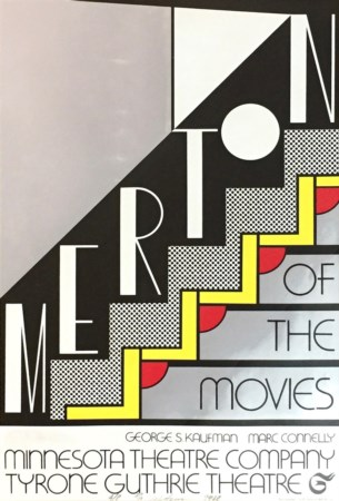 Lichtenstein Roy 71x51 litografia su carta del 1968 'merton of the movies' A/P