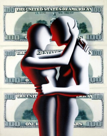 Mark Kostabi 1960, Whittier (California) - [USA] All you need is love olio su...
