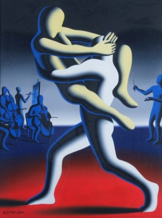 "KOSTABI MARK (Los Angeles 1960) ""Dissonance"" 2000 Olio su tela cm. H: 61.00..."