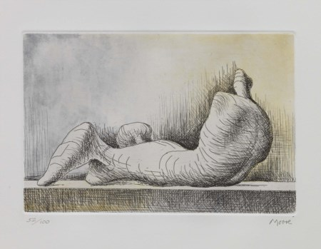 Henry Moore Castleford 1898 - Much Hadham 1986 Reclining Figure Back, 1976...