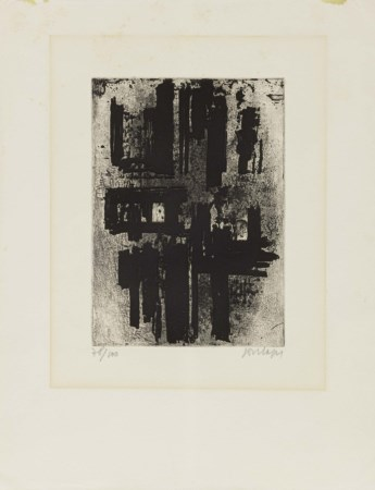 Pierre Soulages, Rodez 1919, Eau-forte no 4, (1957), Acquaforte, es 78/100,...