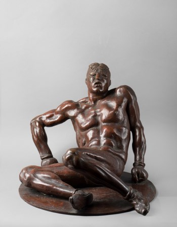 Francesco Messina (1900-1995), Il pugilatore atterrato, 1932 ca., bronzo, cm...