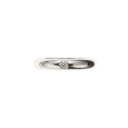 Cartier Anello in platino con diamante taglio brillante di 0,05 ct circa....