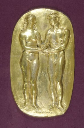 "Francesco Messina 1900-1995 ""Due figure"" cm. 33x20 - bassorilievo in bronzo..."