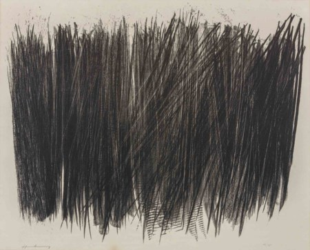 HANS HARTUNG (1904 - 1989) L 103 1963 Litografia su carta Rives, es. 12/75,...