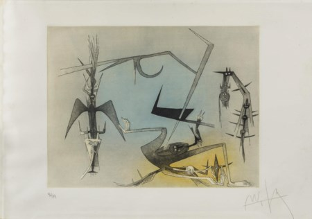 WIFREDO LAM (1902 - 1982) Visibile Invisibile 1972 Acquaforte e acquatinta su...