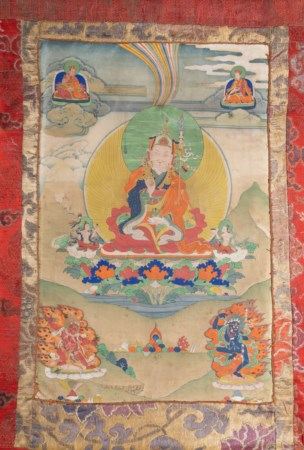 Arte Himalayana  A Gadri style thangka depicting PadmasambhavaTibet, 18th-19th century .