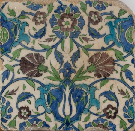 Arte Islamica  A Damascus pottery tileOttoman Empire, early 17th century .