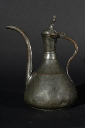 Arte Islamica  A tinned copper ewer dated 1780Ottoman greece, 18th century .