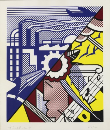 ROY LICHTENSTEIN Industry and the arts (II).