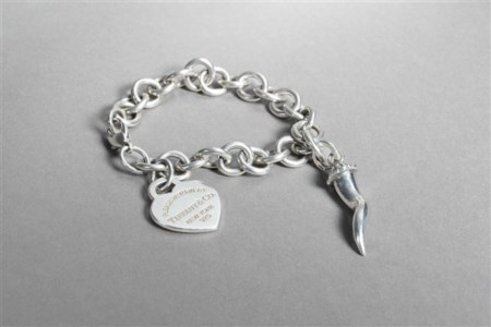 TIFFANY & CO., GIOVANNI RASPINI Bracciale a catena in argento 925/1000 con char