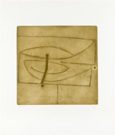 "Victor Pasmore ""Linear Development in One Movement"" 1974 acquaforte acquatinta c"