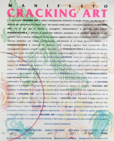 Cracking Art Group MANIFESTO CRACKING ART serigrafia su pvc neutro, cm 90x70...