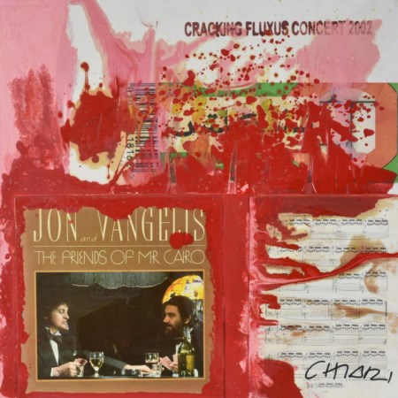 Giuseppe Chiari JON AND VANGELIS. THE FRIENDS OF MR CAIRO tecnica mista e...