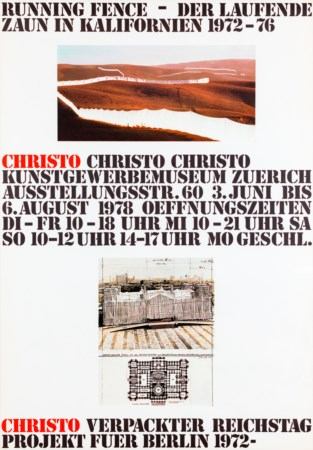 CHRISTO (1935) - Running fence - der laufende zaun in Kalifornien 1972-1976, 1978