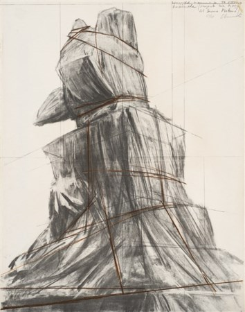 "Christo ""Wrapped Monument to Vittorio Emanuele, Project for Piazza del Duomo, Mi"
