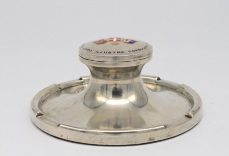 Calamaio in argento - A silver inkstand