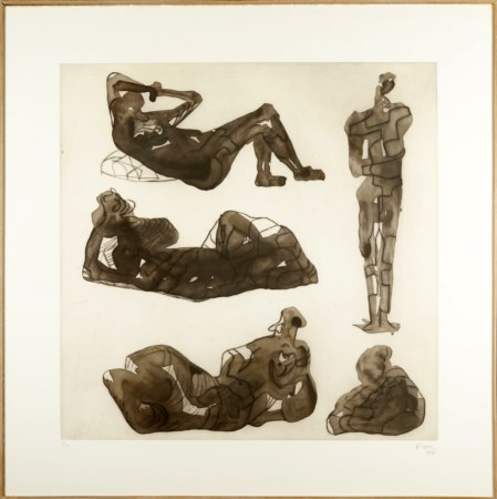 MOORE HENRY (1898 - 1986) - Five sculptural ideas.