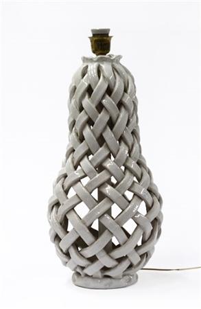 Manifattura Di Deruta Lampada Da Tavolo Con Struttura In Ceramica Smaltata Bian Il Ponte Arsvalue Com