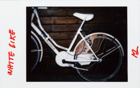 MASSIMO DE LUCA (1960) - White bike. From the banality series, 2019/2020