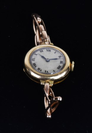 OROLOGIO DA DONNA cassa in oro 18k marca LWC Co. London Watch Case Company,...