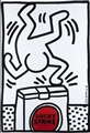 "KEITH HARING<BR>Reading 1958 –1990 New York<BR>""Lucky Strike"""