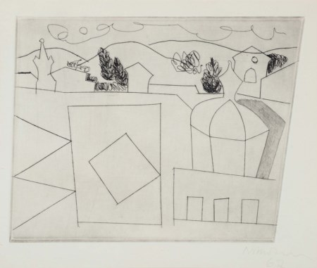 "Ben Nicholson (1894-1982), ""1967"" (Lucca, small version), acquaforte, cm..."