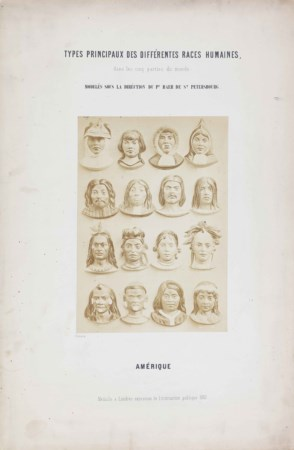 ANONIMO (KARL ERNST BAER) Types principaux des differentes races humaines dan...