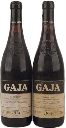 Barbaresco 1974, Gaja ( 2 bt 0,75 lt.) Good standard and conservation, labels...