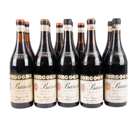 Barolo Borgogno Vintages Selection ( Tot. 12 bt 0,75 lt.: 2 bt Ris.1987, 2 bt...