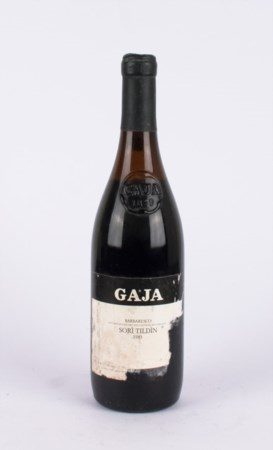 Sori Tildin 1983, Gaja ( 1 bt 0,75 lt.) Partially torn label / Etichetta...