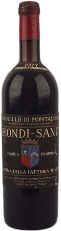 Brunello di Montalcino 1977, Biondi Santi ( 1 bt 0,75 lt. ) Very good...